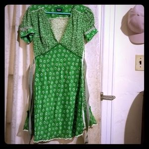 Dand G silk green dress size Italy 42